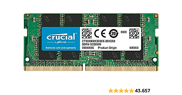 Crucial RAM CT16G4SFRA266 16GB DDR4 2666 MHz CL19 Memoria Laptop