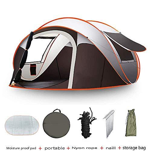Zli tenda campeggio pop up 5-8 posti, protezione uv impermeabile ventilata e resistente trasporto installazione facile per picnic, escursionismo, campeggio, viaggi, pesca, giardino