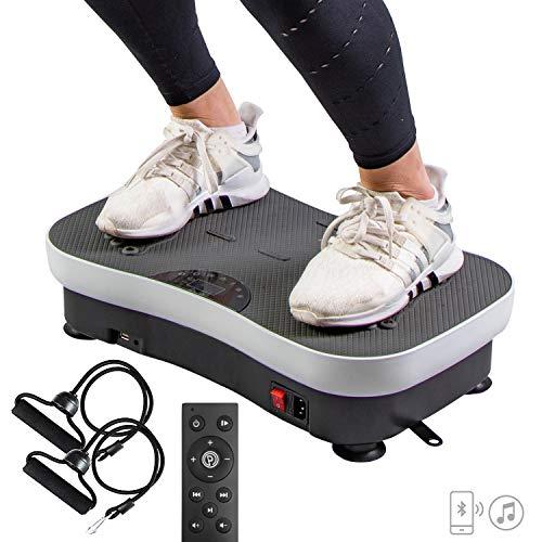 Plateforme VIBRANTE - Machine Vibration pour Sport - Appareil Fitness - Perte de Poids - Circulation Sanguine - Cellulite - 99 Niveaux d'Intensité - Hauts Parleurs Bluetooth - WeightWorld