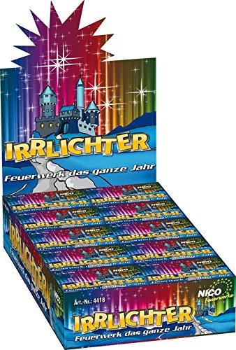 Preisvergleich Produktbild Nico 80 Stück IRRLICHTER - Fontänen in Blau & Gelb - Kinderfeuerwerk