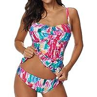 Luckycat Bikini sólido Sexy para Mujer Conjunto Push-Up Acolchado Traje de baño/Traje de baño de baño/Ropa de Playa