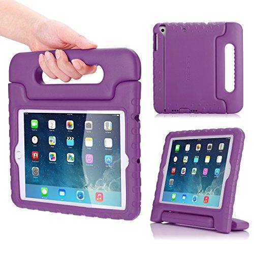 MoKo Hülle für iPad Mini 3/2 / 1 - Superleicht Eva Stoßfest Kinderfreundlich Kinder Schutzhülle mit umwandelbarer Handgriff Handle und Standfunktion, Violett (Nicht für Mini 4)