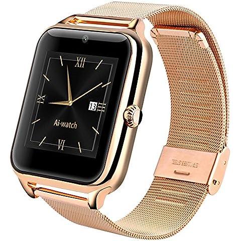 AI Orologio Touchscreen Full Acciaio Z50Fitness Bluetooth Smart Watch Sync per iOS telefoni Android