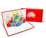 Überraschende Geburtstagskarte für Glückwunsch & Jubiläum - hochwertige 3D Pop-Up