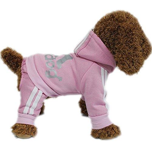 elaiya Pet Hund Katze Jacke Hoodie Mantel Sweatshirt Vier Beine Hund Kleidung (Cute Pet Halloween Bilder)