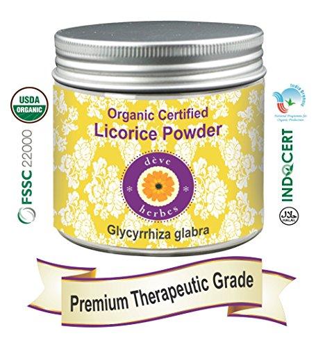 Deve Herbes Pure Lakritz- / Lakritzpulver (Glycyrrhiza glabra) Bio-zertifiziertes 100% natürliches Heilmittel 200 g (7.05 oz) -