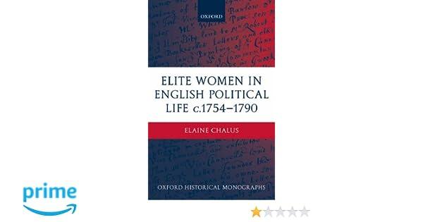 elite women in english political life c1754 1790 chalus elaine