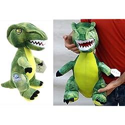 brigamo 24018–Jurassic World© verde Velociraptor Peluche dinosaurio en XL Tamaño.