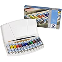 Talens Van Gogh Watercolor, 10ml, 12 Tube Pocket Box Set by Talens