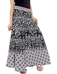 Amber Women's Cotton Printed Palazzo (Black and White)