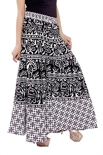 PMS Pure Cotton Woman\'s Palazzo (Assorted Design in Black and White ))