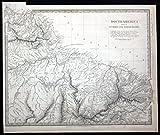 Guayana and North Brazil - Guayana North Brazil South America engraving map Karte SDUK -