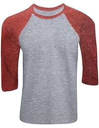 Canvas - Camiseta con manga 3/4 para hombre - Modelo baseball/Béisbol