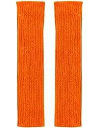 Sanwood Femmes Couleur Solide Jambières en tricot capuche sans pieds