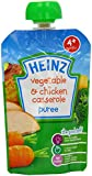 Heinz Smooth Veggie Chicken Casserole 4 Months Plus 100 g (Pack of 6)