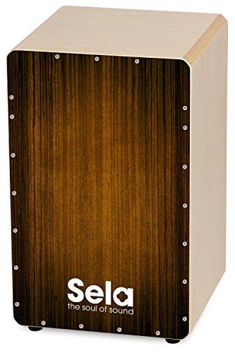 Sela 051 Varios Brown Snare Cajon mit Sela Snare System, geeignet für Anfänger und Fortgeschrittene, Made in Germany