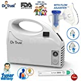 Dr Trust Piston Compressor Handy Nebulizer with Flow Adjuster (White)