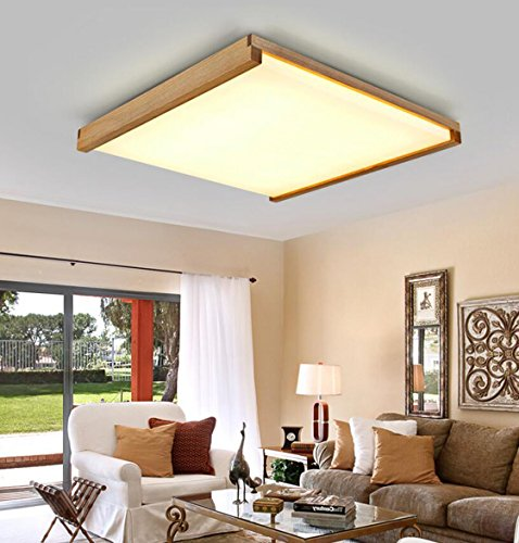 AYAYA Holzlampe Led Deckenleuchte Holz Protokolle Treibholz Rustikal Massivholz Landhaus Holzoptik Deckenlampe Wohnzimmerlampe Schlafzimmerlampe Lampen