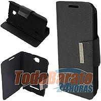 Funda libro iman NEGRO Alcatel One Touch POP C7
