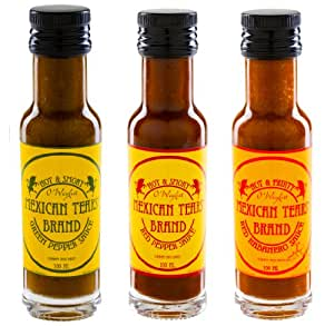 Mexican Tears® - 3 Pack, Hot Chili Sauce made with smoked Chipotles, Jalapeños, air dried Habaneros and Fleur de Sel (premium seasalt) [3x100ml Chilli Sauce]