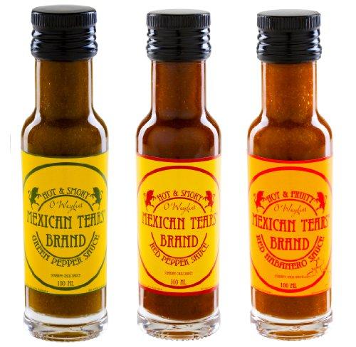 Mexican Tears® - 3er Pack, scharfe Sauce aus Habaneros und Chipotle [3x100ml Chilisauce]