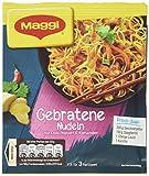 Maggi fix & frisch, Gebratene Nudeln, 26 g Beutel, ergibt 3 Portionen,15er Pack (15 x 26g)