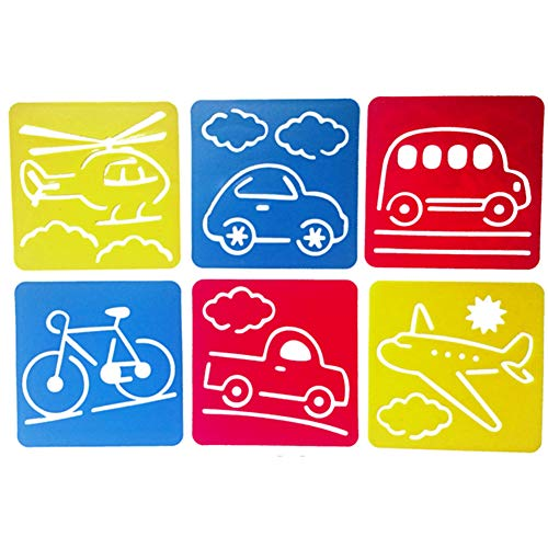 1SET Conseil Pratique Dessin Modèle Bricolage pour Enfants Peinture Lavable Pochoirs Modèles éducatifs pour Enfants Dessin (Transport)