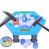 HOMCA Mini Juegos de Mesa Equilibrio Ice Cubes Guardar Pingüino Icebreaker Beating Desktop Interactivo Paternidad Familia Juego
