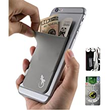 The Gecko Adhesive Card Wallet for Cell Phones, Ultra Slim & Custom Designed