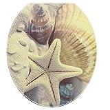 sourcingmap Badezimmer PVC Starfish Pattern Abnehmbare Wasserresistenz WC Deckel Aufkleber