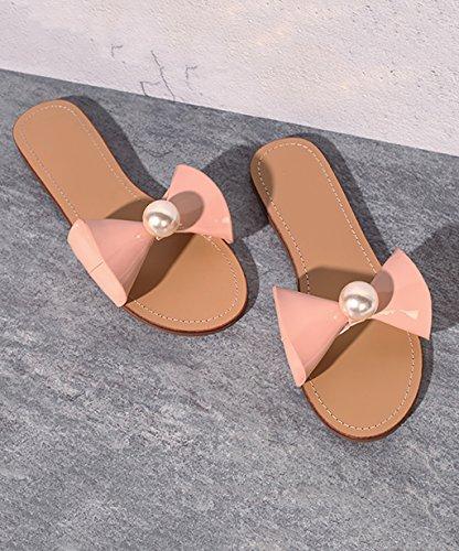 CHAOXIANG Pantofole Da Donna Antiscivolo Con tacco Ciabatte Piatte Sandali Da Surf Nuova Estate Ciabatte Spiaggia ( Colore : Rosa , dimensioni : EU36/UK4-4.5/CN37 ) Rosa
