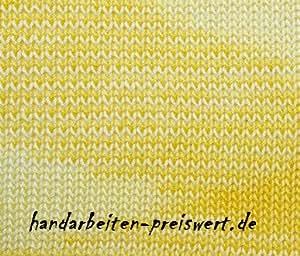 Strickgarn meliert+ombrè Stärke Nm 28//2x4 Baumwolle häkeln Häkelgarn 4x 50 Gr