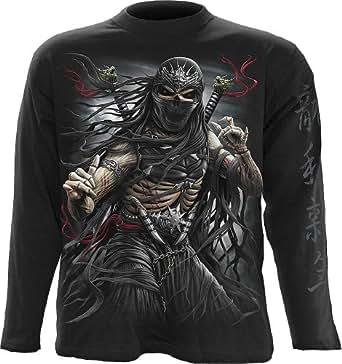 Spiral ninja assassin manches longues unisexe noir -  Noir - XX-Large