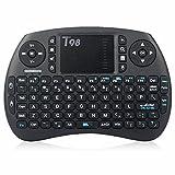 QcoQce T98 Mini Clavier Sans-fil avec Touchpad et pavé directionnel Compatible MXQ PRO Xbox 360 Box TV Android, Consoles, Mini PC, Notebook, HTPC, Projecteur