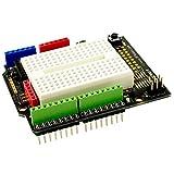 T prototipi per ARDUINO/utilizzati per costruire un Prototipo circuito, componenti possono essere saldato direttamente sulla tavola, è possibile collegare attraverso il circuito sopra il mini pane