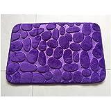 Felpudo Suave y cálido Alfombras y moquetas Otomanas y reposapiés Alfombrillas de baño Antideslizante Estera de puerta (type 1, Purple)