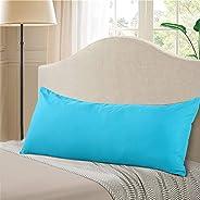 "EVOLIVE Ultra Soft Microfiber Body Pillow Cover/Pillowcases 21""x54"" with Hidden Zipper Closure (Ocea"