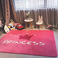Flashing- Salle Creative Cartoon Enfant Chemical Fiber Tapis, Salon Table Basse Chambre Princesse Chambre Mat (Taille : 150 * 190cm)