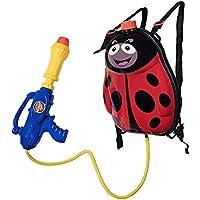 MaMiBabys Water Gun Mochila Water Blaster para niños -Water Shooter con Tanque Lady Bug Toys para niños- Verano Juguetes al Aire Libre para la Piscina Beach Water Toys para niños