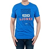 JACK & JONES Camiseta Hombre Azul 12138773 JCOZIPPO tee SS Crew Neck Nautical Blue/Slim