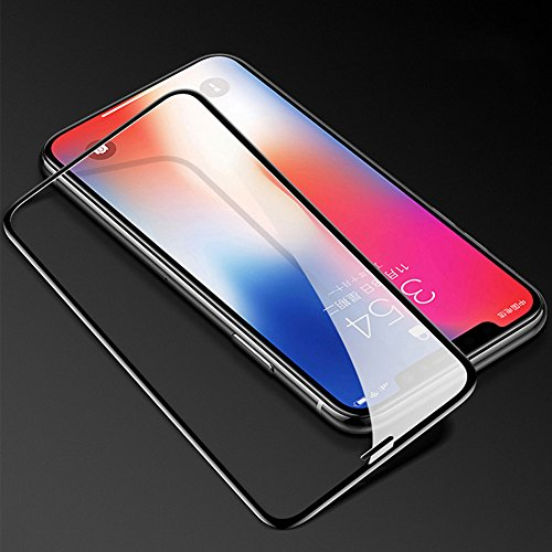 SELUXU Tempered Glass Protector Shield,6D Curved Full Coverageiphone6 plus/7/7plus/8/8 Plus/x Tempered Film