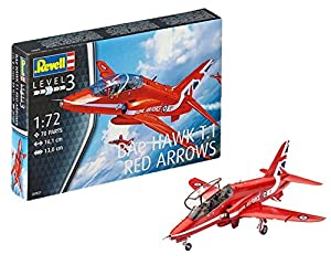 Revell Maqueta BAe Hawk T.1 Red Arrows, Kit Modello, Escala 1:72 (4921) (04921), 16.1 cm