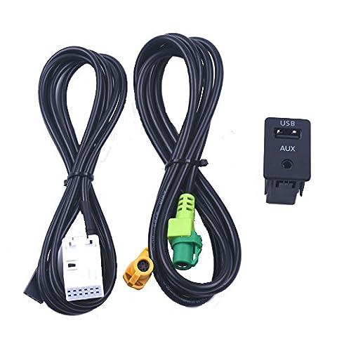 Aux Commutateur câble adaptateur USB sans fil pour BMW Série 3 E87 5 E90 E91 E92 X5 X6