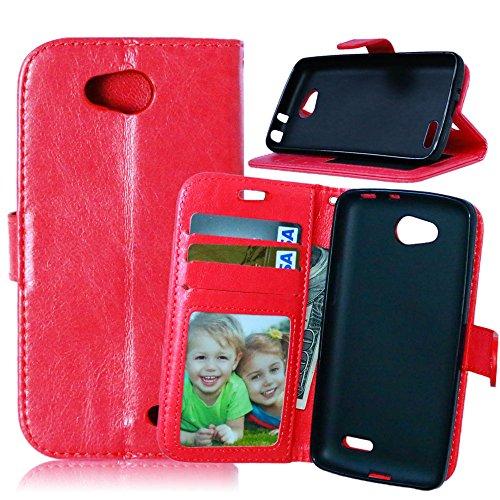 Jepson LG L90 D410 D405 D415 (4.7 pouces) Coque PU Cuir Flip Housse Étui Cover Case Wallet Stand avec Carte de Crédit Fentes pour