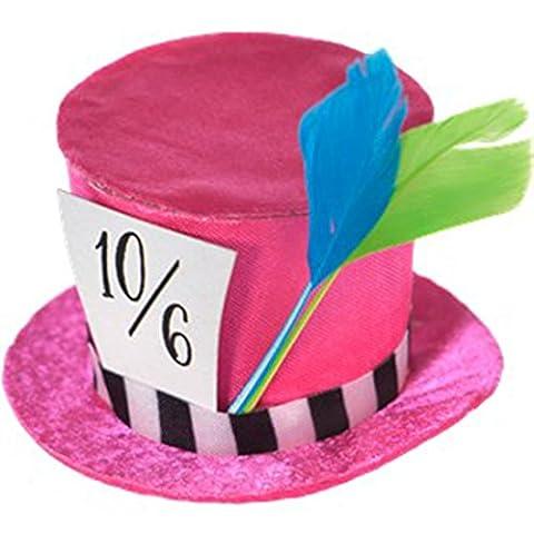 erdbeerclown - Mad Hatter Tea Party Mini Hut , Pink (Deutschen Offizier Hut Kostüm)