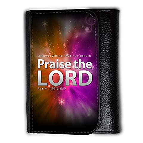 Medium Faux Leather Wallet with card slot // V00000370 Bible: Praise the Lord // Medium Size Wallet