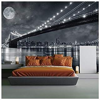 azutura Brooklyn Bridge New York Wall Mural Black & White Photo Wallpaper Bedroom Decor available in 8 Sizes Gigantic Digital