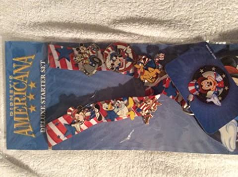 Disney Americana Deluxe Starter Set - Lanyard and 8 Pins 61631 by Disney