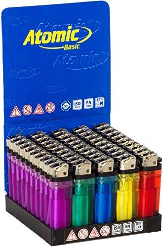 accendino-atomic-3938005-trasparenti-colori-assortiti-box-50-pz