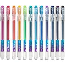 Tintenroller radierbar 0,7 mm Spitze – nachfüllbarer radierbarer Kugelschreiber – Bunt – 12er Set - Ezigoo - 9BL000